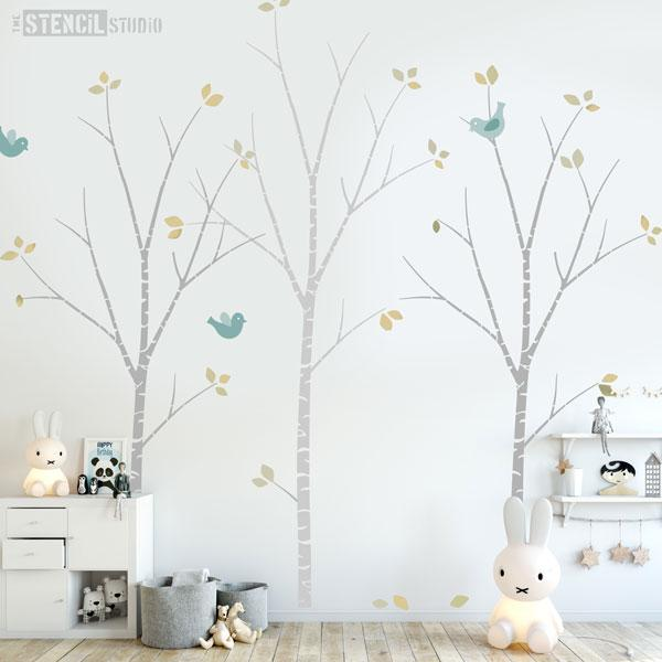 Birch Tree Stencil Pack