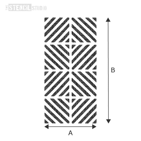 Chevron Squares Border stencil from The Stencil Studio - choose size from the dropdown box