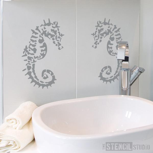 Sofia Seahorse Stencil from The Stencil Studio Ltd - Size S
