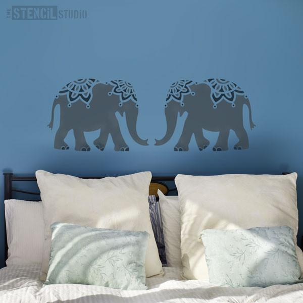 Indian Elephant stencil from The Stencil Studio - Size L