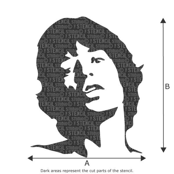 Mick Jagger stencil from The Stencil Studio Ltd