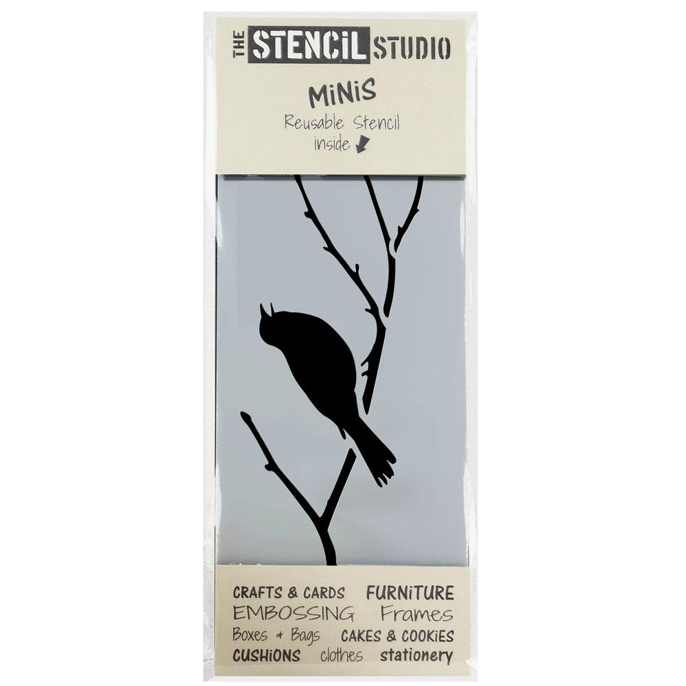 Blackbird on a Branch stencil MiNi from The Stencil Studio
