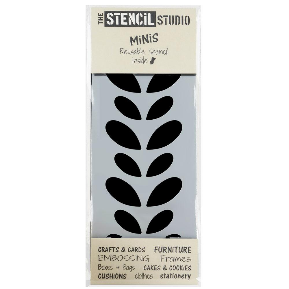 Gloria Leaf Border stencil MiNis from The Stencil Studio