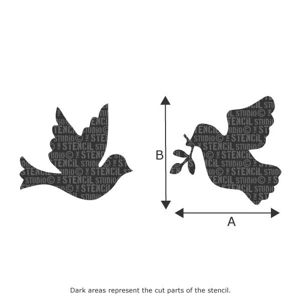 Doves Stencil from The Stencil Studio Ltd