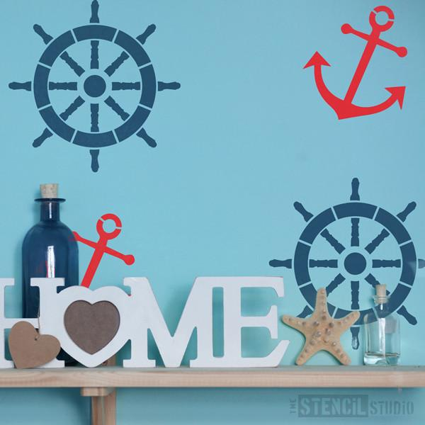 Ships Ahoy! Stencil from The Stencil Studio Ltd - Size S/A4