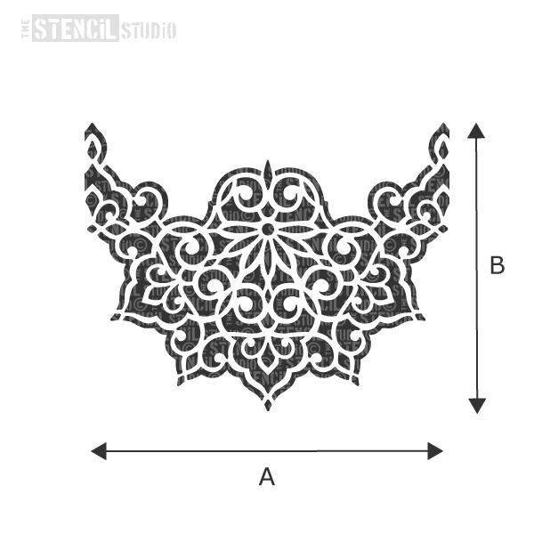 Ottoman Border stencil from The Stencil Studio - choose size from dropdown box