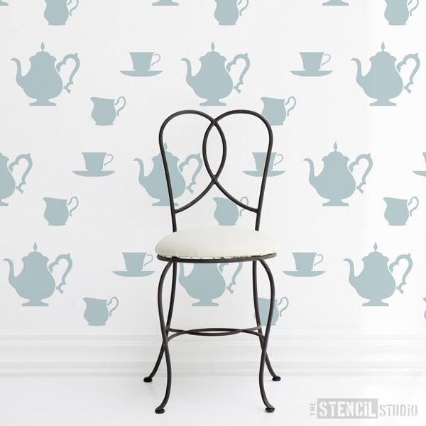 Teatime stencil from The Stencil Studio Ltd - Size M/A3
