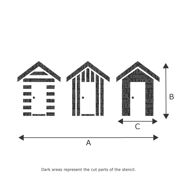 Southwold beach huts stencil sizes