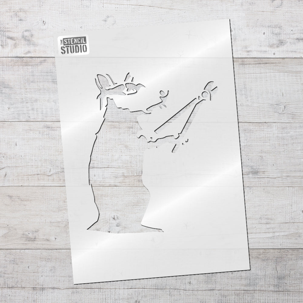 Banksy bolt cutter rat stencil from The Stencil Studio