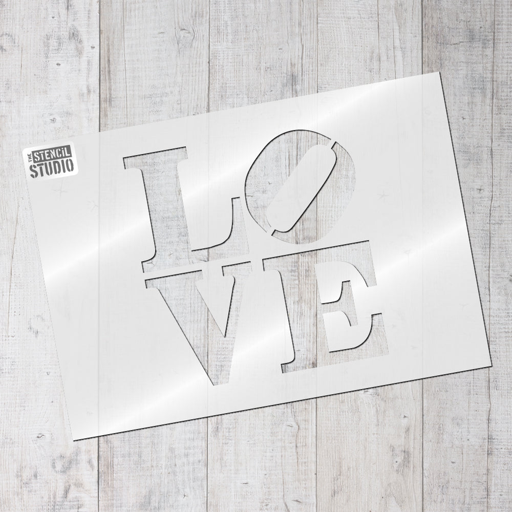 Banksy style LOVE stencil graffiti wall stencils from The Stencil Studio