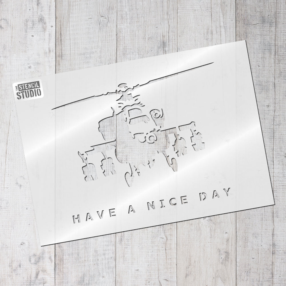 Have a Nice Day graffiti Banksy stencil from The Stencil Studio