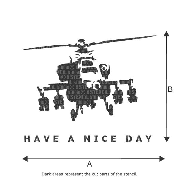 Banksy style Have a Nice Day! Stencil from The Stencil Studio Ltd