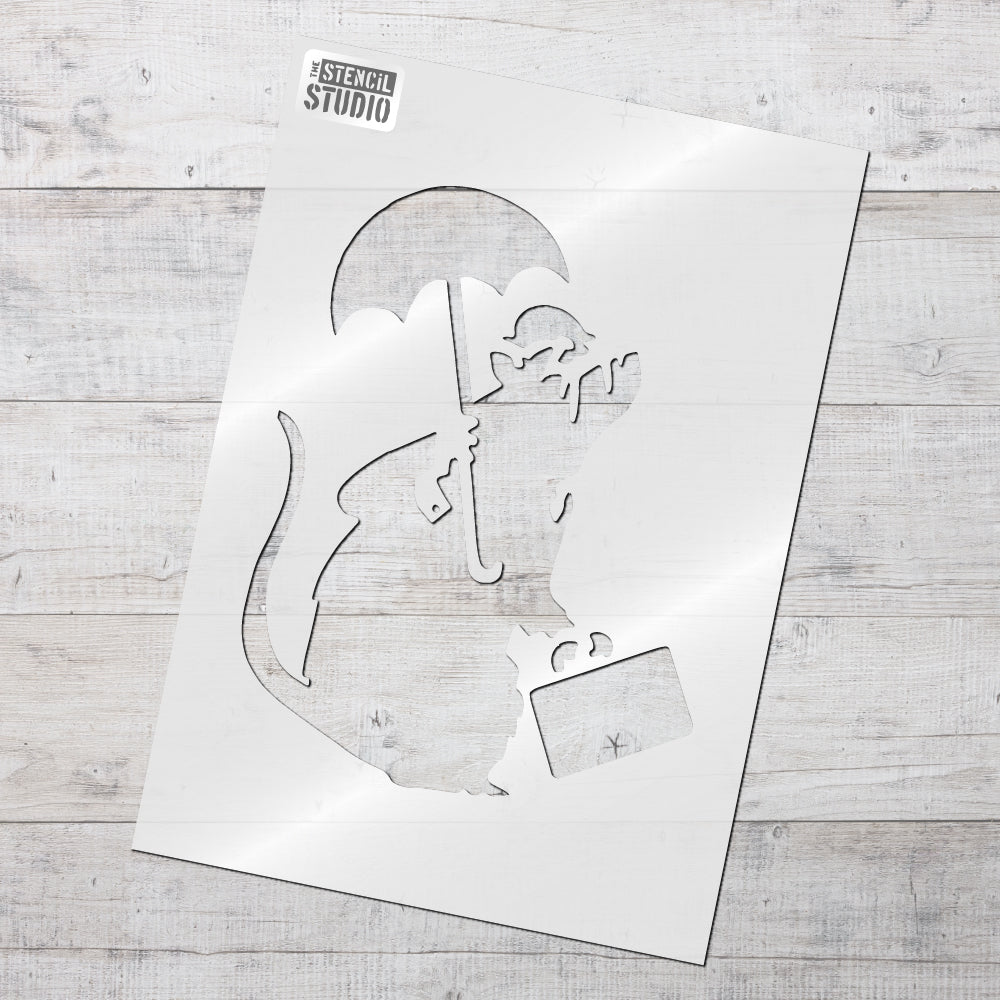 Banksy Bowler Rat stencil from The Stencil Studio