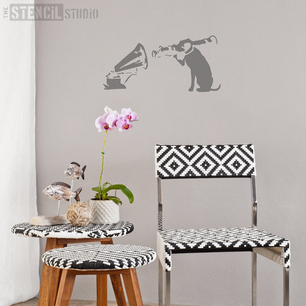 Banksy Style stencils - HMV Dog stencil from The Stencil Studio Ltd - Size L