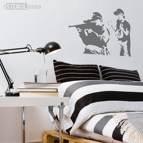 Banksy Style stencils - Sniper stencil from The Stencil Studio Ltd - Size XL