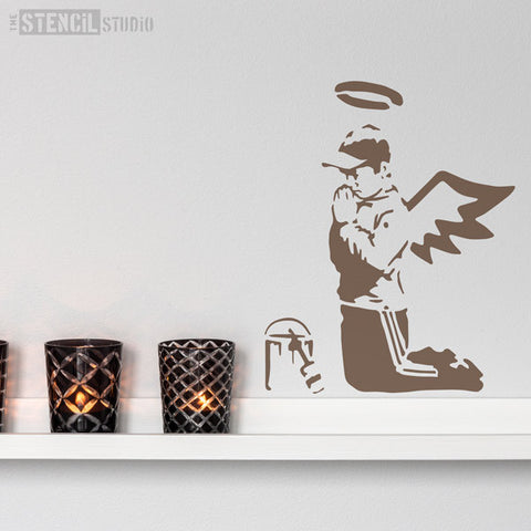 Banksy Style stencils - Prayers stencil from The Stencil Studio Ltd - Size S