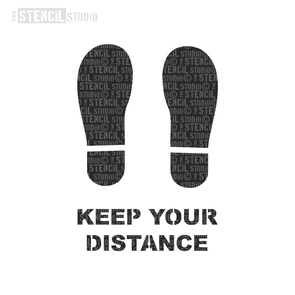 COVID19 Social Distancing Stencil - Keep Your Distance Stencil.