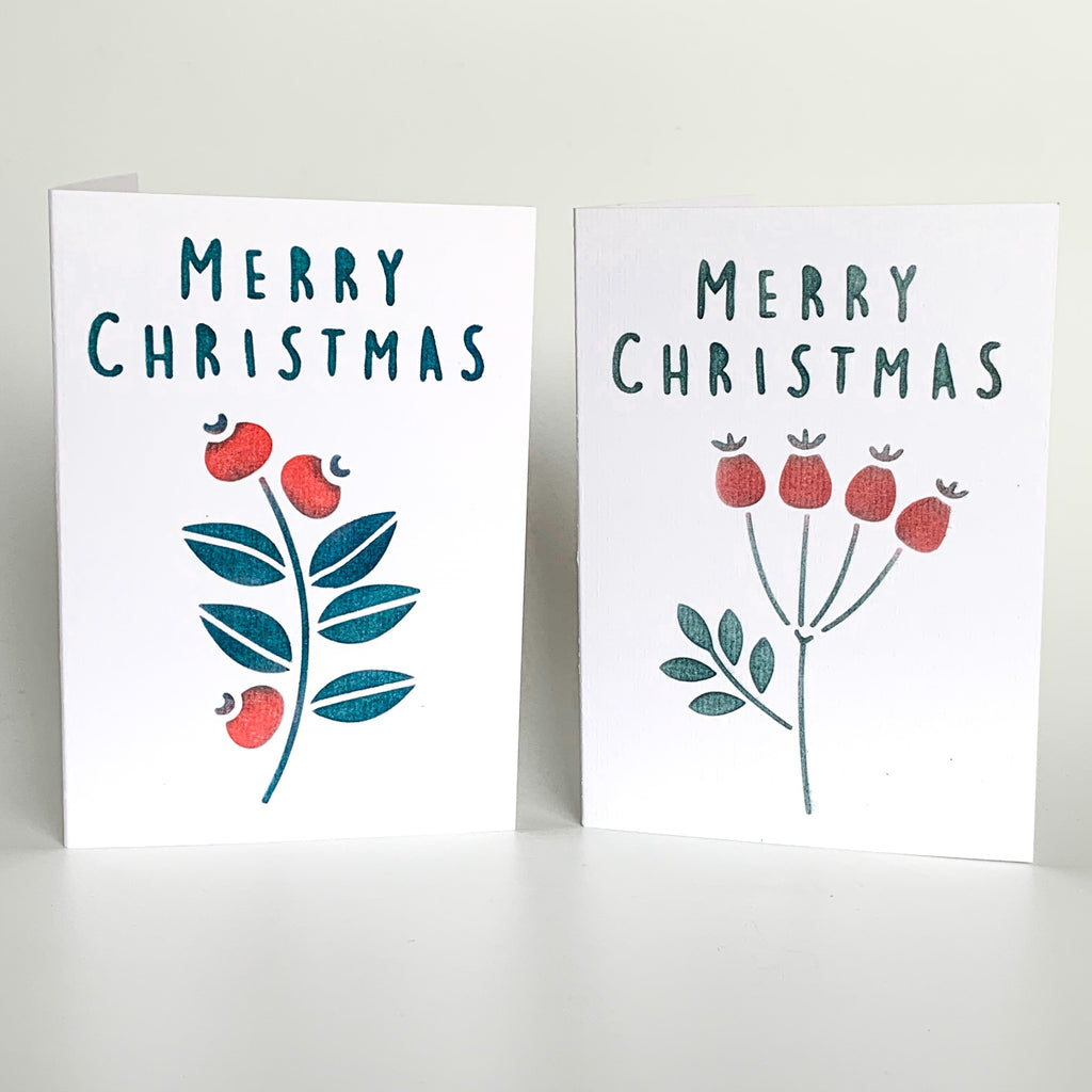 Berries Card, Tag & Wrap Stencil Set