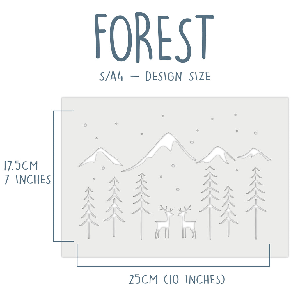 Forest Window Snow Spray Stencil