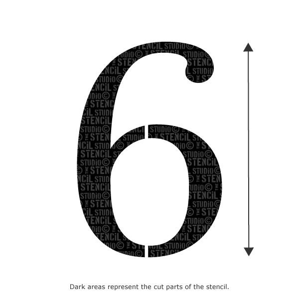 Decorative Number Stencil - 6