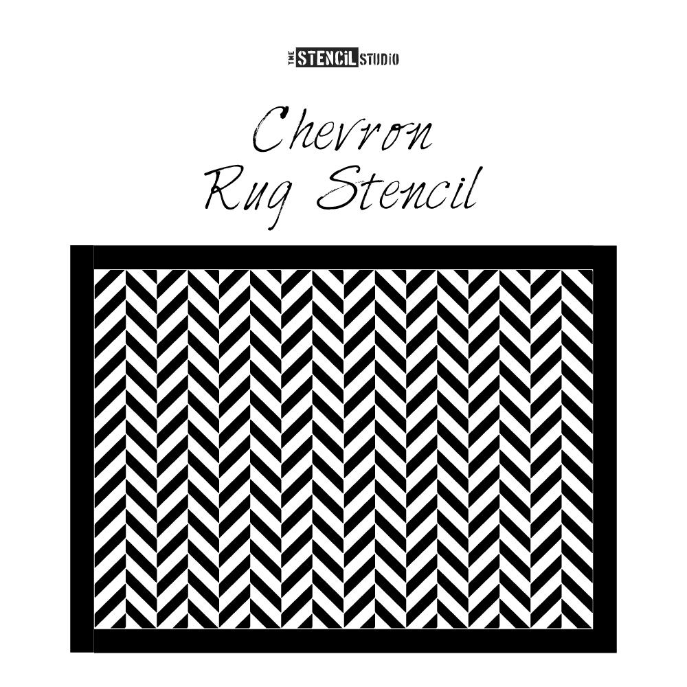 Chevron Rug Stencil from The Stencil Studio