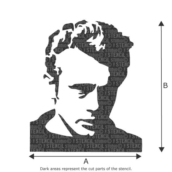 JAMES DEAN STENCIL FROM THE STENCIL STUDIO LTD