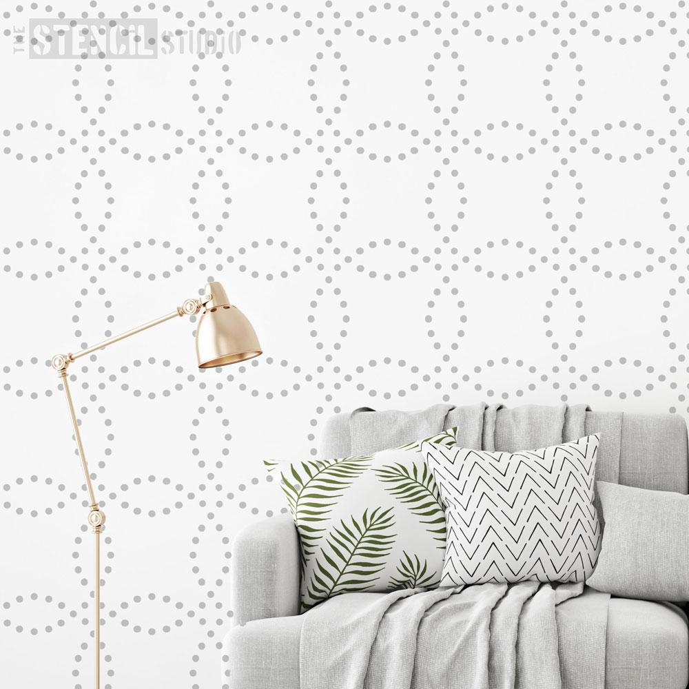 Dotty Circles Stencil
