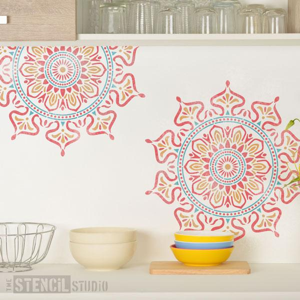 Zara Mandala Indian Motif stencil from The Stencil Studio - Size L