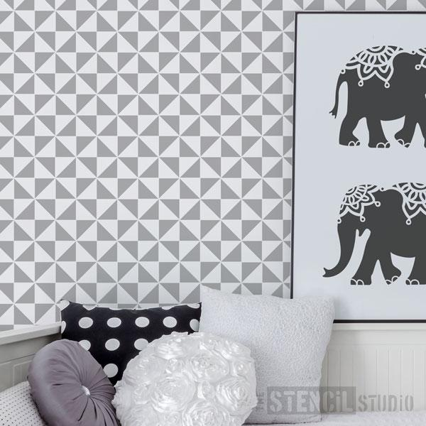 Trisk Repeat Scandi pattern stencil from The Stencil Studio - Size S