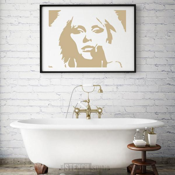 Deborah Harry stencil from The Stencil Studio Ltd - size XL