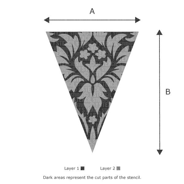 Damask Bunting stencil from The Stencil Studio Ltd