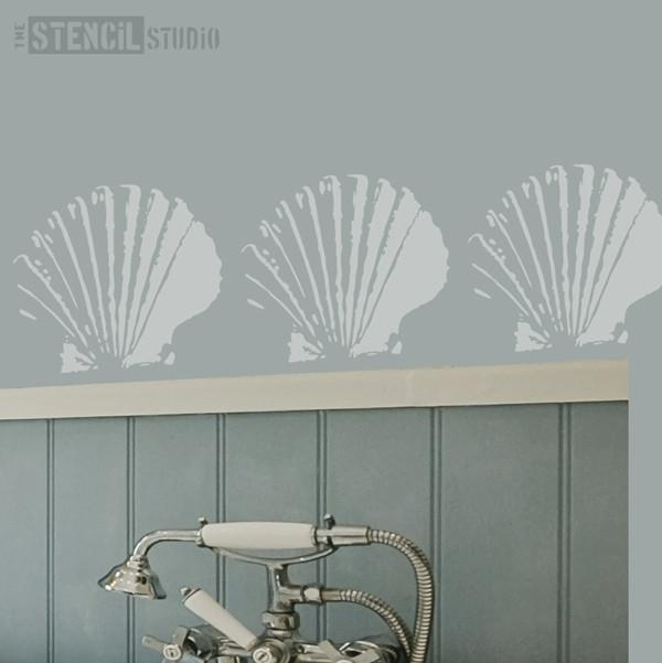 Kintyre Scallop stencil from The Stencil Studio Ltd - Size S