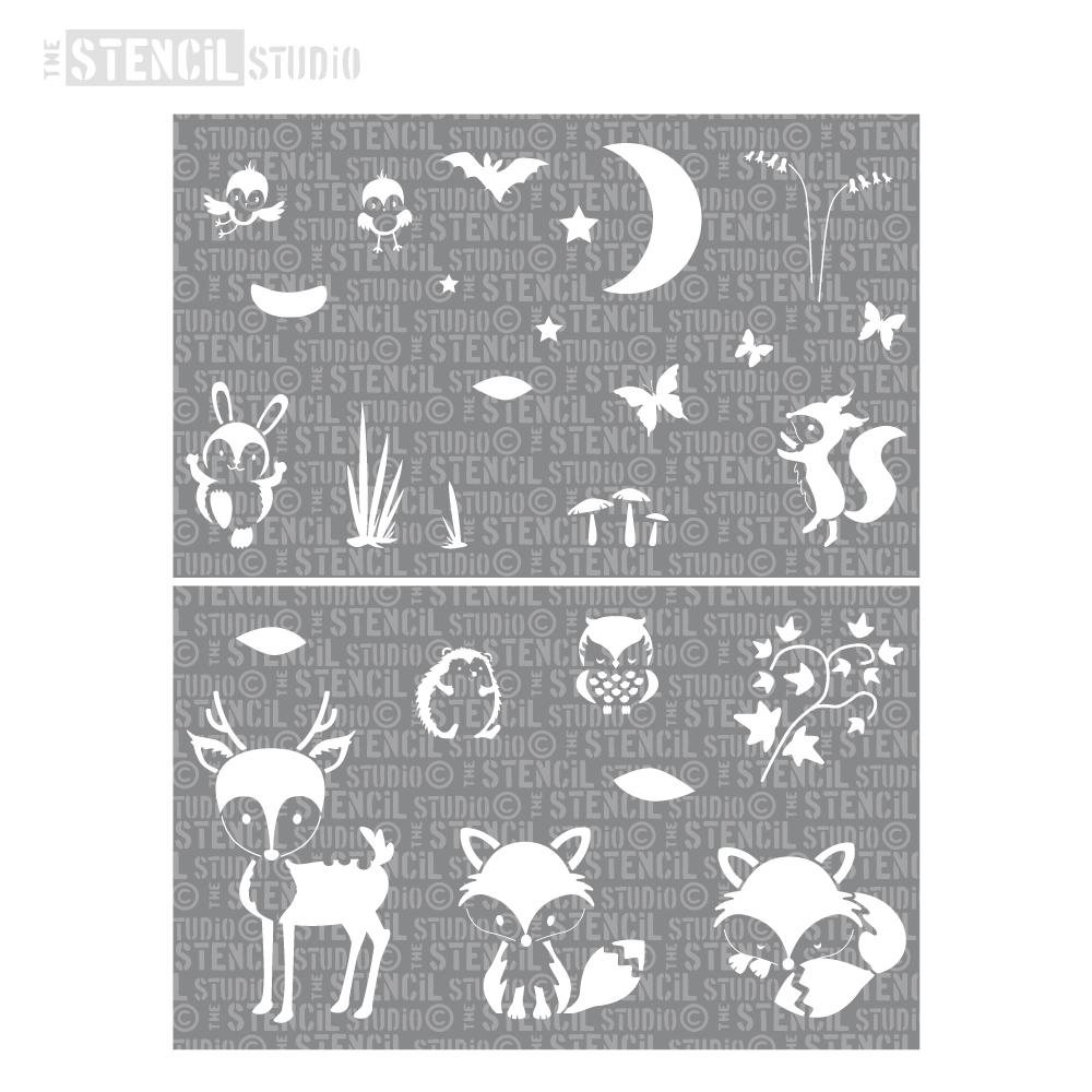 Woodland Animals Stencil Set from The Stencil Studio