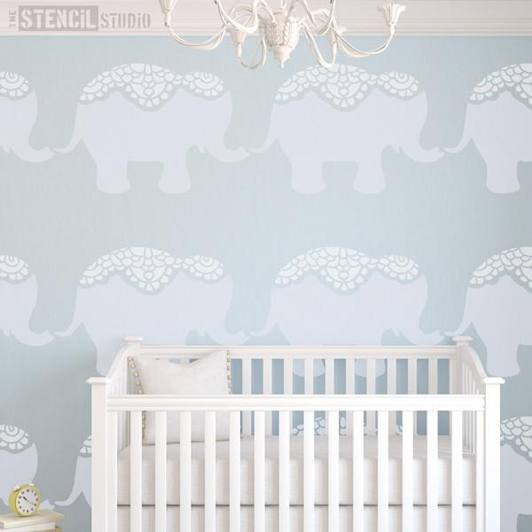 Nellie Elephant Stencil from The Stencil Studio Ltd - Size XL