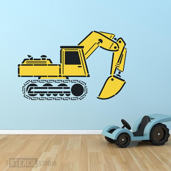 Excavator Stencil from The Stencil Studio - Size XL/A1