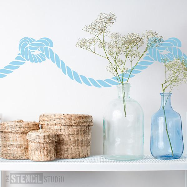 Yarmouth Rope stencil from The Stencil Studio Ltd - Size S