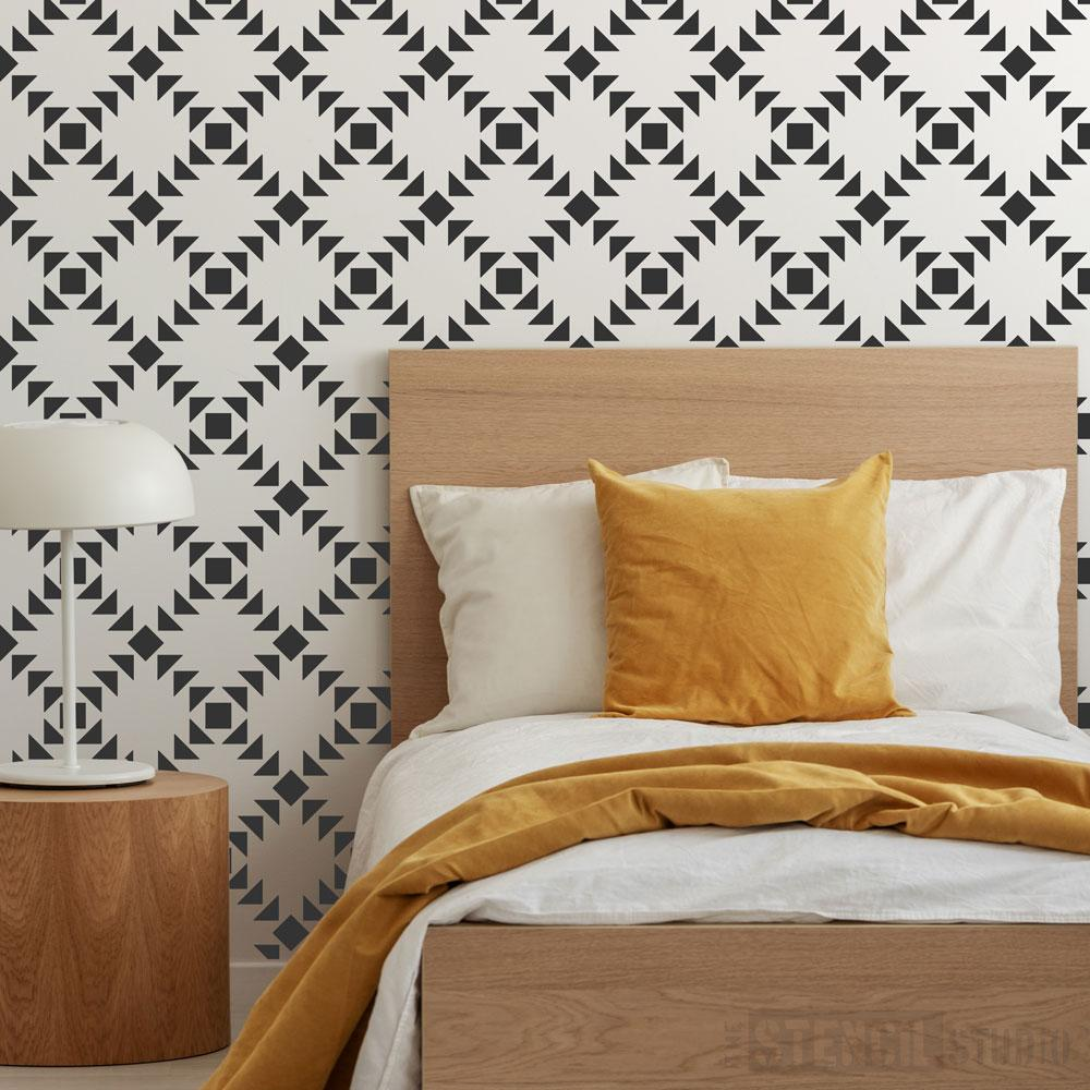 Checkers repeat pattern stencil from The Stencil Studio - Size XL