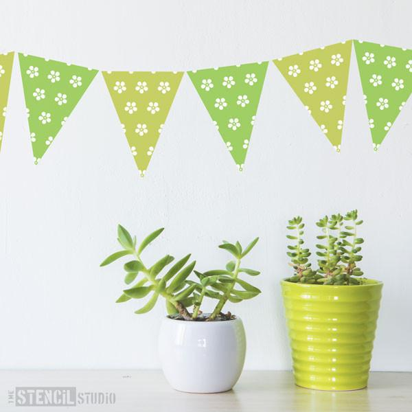 Forget-me-not bunting stencil from The Stencil Studio Ltd - Size XS