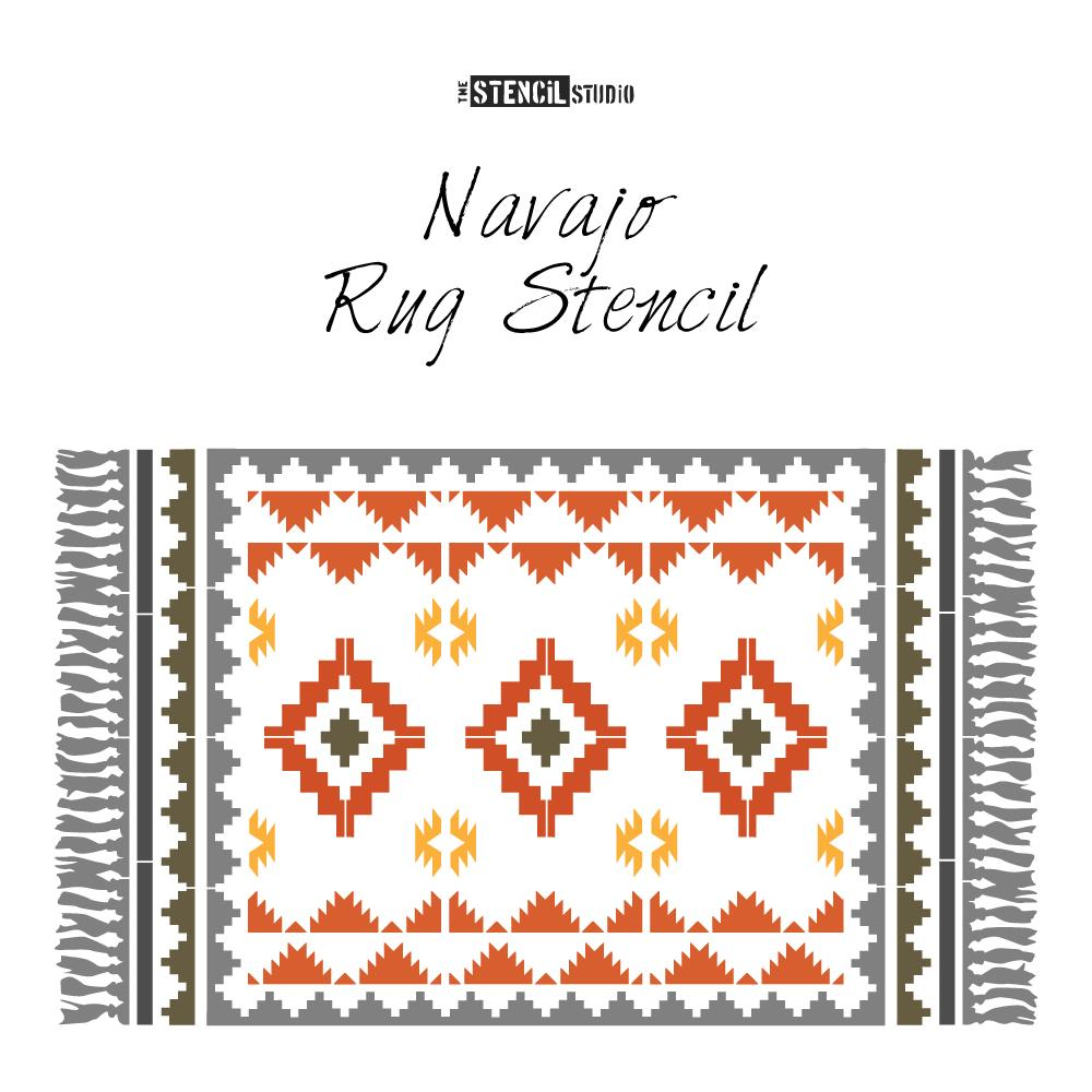 Navajo Rug Stencil from The Stencil Studio