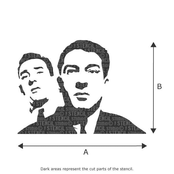 Kray Brothers Stencil from The Stencil Studio Ltd