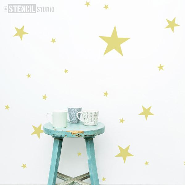 Stars Stencil from The Stencil Studio Ltd - Size L