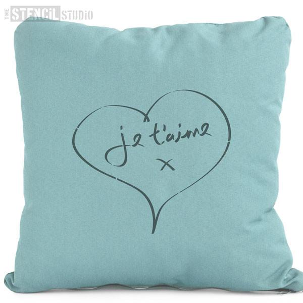 Je t'aime stencil from The Stencil Studio Ltd - Size S