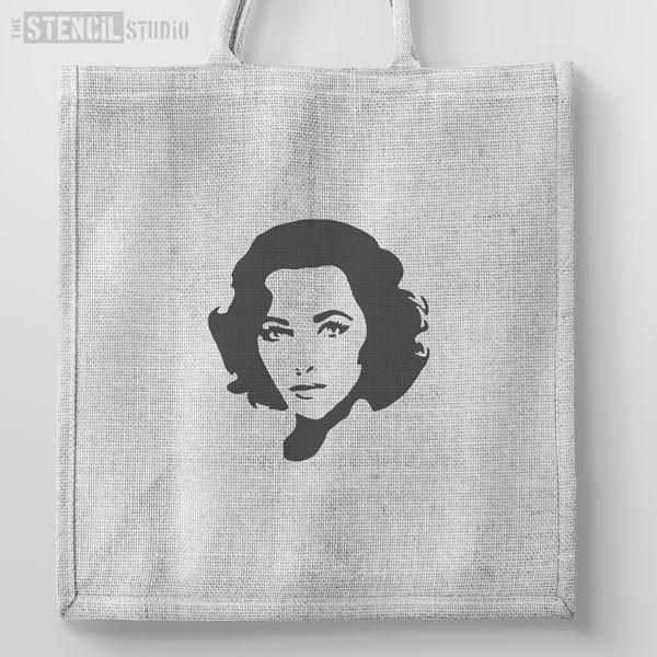 Elizabeth Taylor 2 stencil from The Stencil Studio Ltd - Size XS