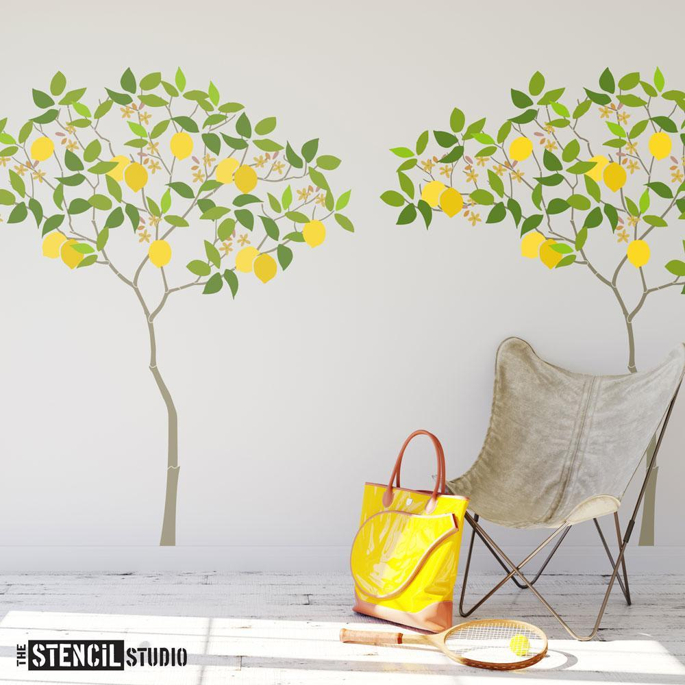 Triangle Tree with Lemons stencil pack from The Stencil Studio - Size XL