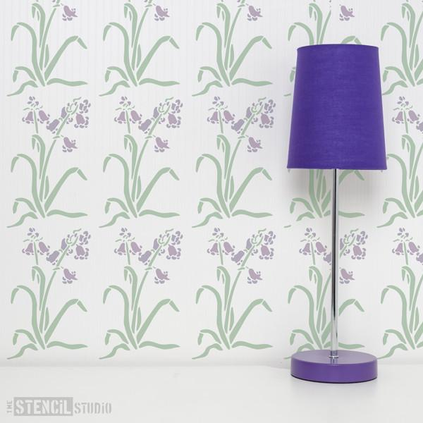 Woodland Bluebells Stencil from The Stencil Studio Ltd - Size XS