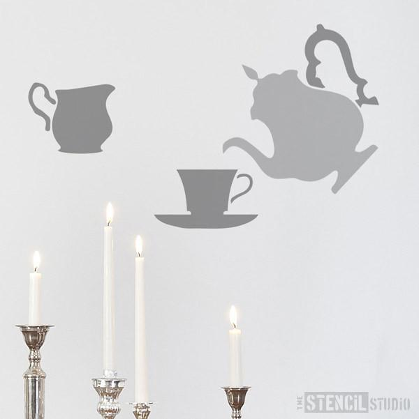 Teatime stencil from The Stencil Studio Ltd - Size S