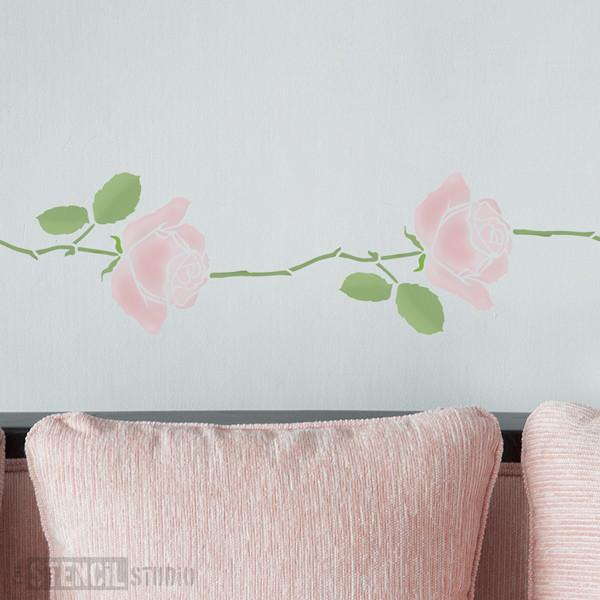 Summer Rose Stem stencil from The Stencil Studio Ltd - Size S