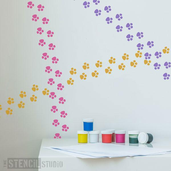 Paw print stencil from The Stencil Studio Ltd - Size XS