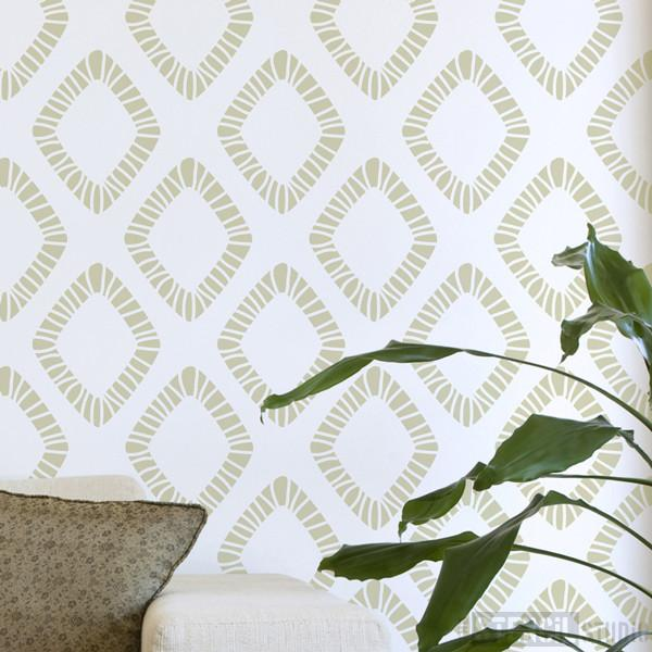 Diamante Scandinavian style stencil from The Stencil Studio Ltd - Size XL