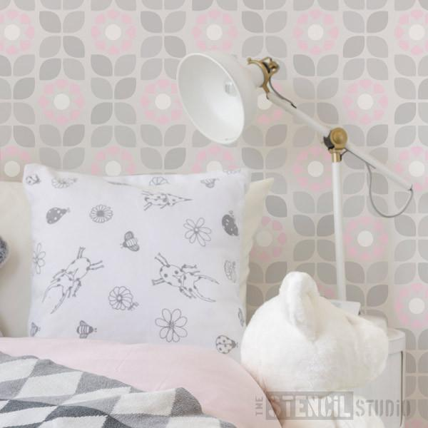 Dorit Flower pattern stencil from The Stencil Studio Ltd - Size S